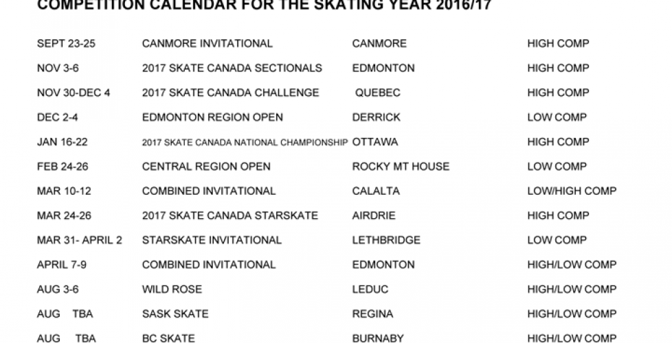 competition-calendar-for-2016-2017